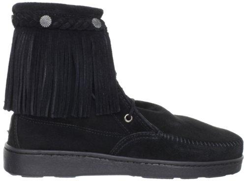Minnetonka Sheepskin Tramper Damen Kurzschaft Mokassin Boots Noir