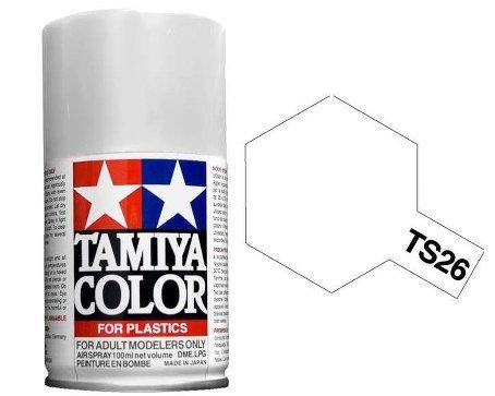 Tamiya 85026. Spray TS-26. Pintura esmalte color Blanco Puro