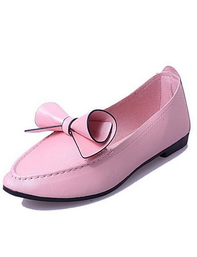 ZQ gyht Scarpe Donna - Mocassini - Casual - Punta arrotondata - Piatto - Finta pelle - Nero / Rosa / Viola , purple-us8 / eu39 / uk6 / cn39 , purple-us8 / eu39 / uk6 / cn39 pink-us7.5 / eu38 / uk5.5 / cn38
