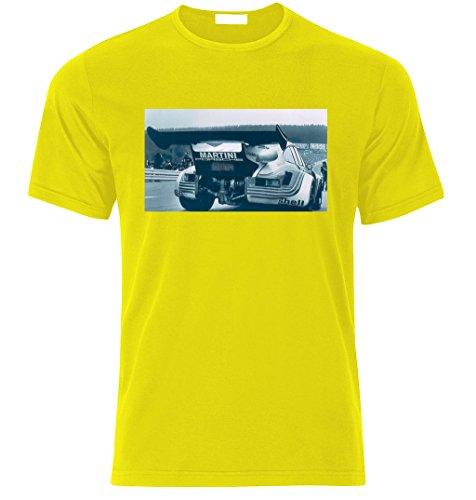Porsche 911 RSR TURBO 1974 vintage Fan T Shirt T-SHIRT Gelb