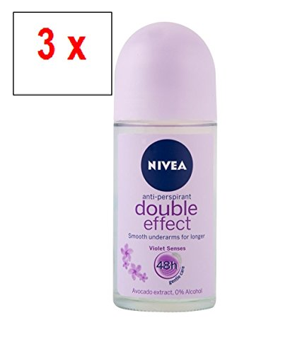 """NIVEA Women \""""Double Effect\"""" Deo Roll-on, Anti-Perspirant - 3er Pack (3 x 50 ml)"""