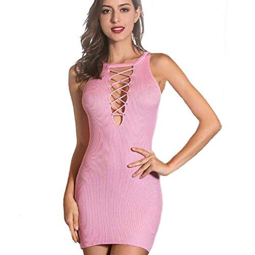 Jamicy -  Vestito  - linea ad a - Donna Pink
