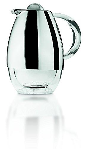 Guzzini Look Caraffa Termica, PMMA/Plastica/TPR/ABS Chrome finish/Insulating glass, Cromato, 21x16x24 cm