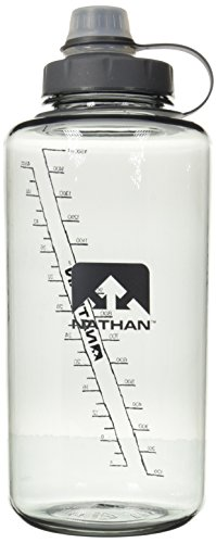 Nathan SuperShot Wasserflasche, 1,5 Liter, blau/Electric Blue, Unisex, 4314TNG, grau, 1,5 Liter -