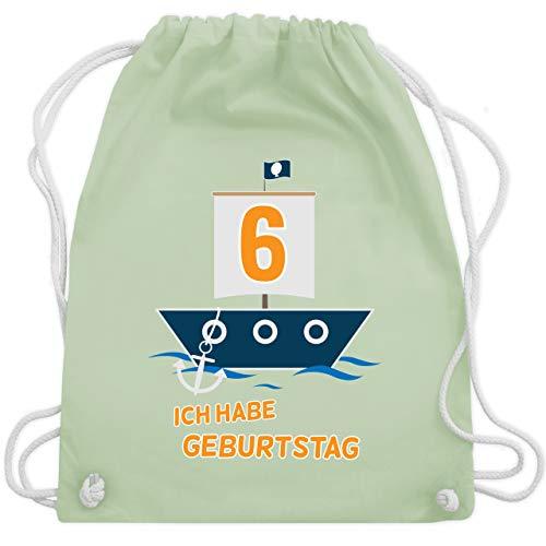 Geburtstag Kind - Ich habe Geburtstag Boot 6 - Unisize - Pastell Grün - WM110 - Turnbeutel & Gym Bag