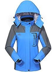 Wasserdichte Regenjacke Damen Softshell Sport Outdoorjacke - GIVBRO 2017 Neues Design Funktions Atmungsaktive Hooded Camping Hiking Jacke