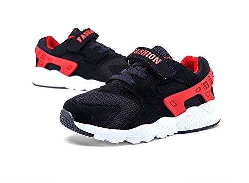 Sportliche Jungen Mesh Atmungsaktive Gummi Weiche Sohle Schnellverschluss Sommer Bequeme Turnschuhe Sneakers Rot