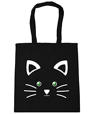 HippoWarehouse Cute Kitty Cat Face Tote Shopping Gym Beach Bag 42cm x38cm, 10 litres