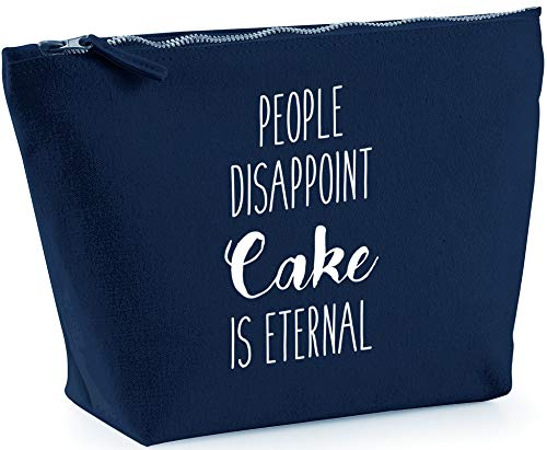 Hippowarehouse People Disappoint, Cake is Eternal Bolsa de Lavado cosmética Maquillaje Impreso 18x19x9cm