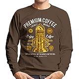 Cloud City 7 Premium Coffee Vintage Machine Men's Sweatshirt