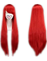COSPLAZA Cosplay Costume Wigs Perruque 80cm Fairy Tail Erza Scarlet longueue rouge Cheveux