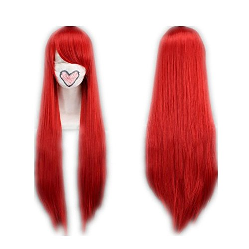 COSPLAZA Cosplay Wig Kostueme Perücke 80cm Fairy Tail Erza Scarlet Lang Rot Haare