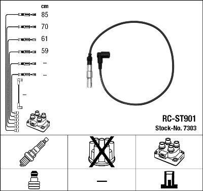 NGK 7303 Set di cavi accensio