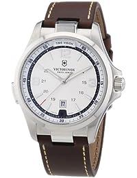 Victorinox Swiss Army 241570 - Reloj analógico de cuarzo para hombre con correa de piel, color marrón