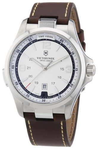 Victorinox Swiss Army Herren-Armbanduhr XL Active Night Vision Analog Quarz Leder 241570