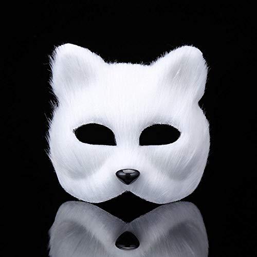 JIE Masquerade Maske Tier Männlichen Und Weiblichen Halben Gesicht Requisiten Spielzeug Halloween Chat Schnelle Fuchs Fuchs ()