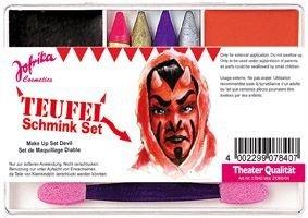 Schminkset Set Schminkel Teufelschminkset Teufelschminke Teufel Teufelset Devil MakeUp Make Up für Kinder Kids Fashion ()