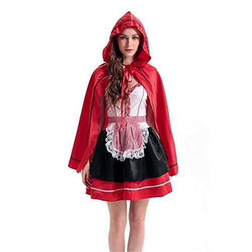 ZLHZYP deguisement Halloween Halloween Hood Costume Cosplay Costume Princesse Costume De Noël Uniforme Fête Femelle Adulte Qualité Robe, Un (Kostüm D'halloween Pour Animaux)