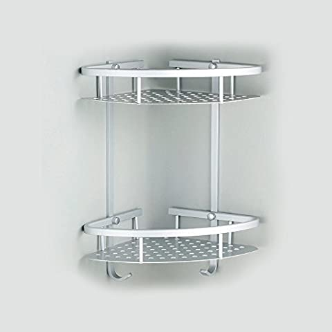 SpecialShare - Mensola doccia angolare a 2 ripiani, in alluminio