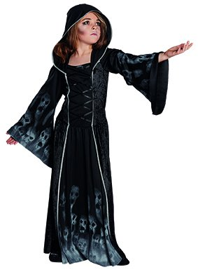 Geist Kostüme Mädchen (Kinderkostüm Vergessenes Seelenkind Mädchen Gr. 128 - 164 Halloween Geist Gespenst Fasching Karneval)