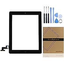 Universal Buying - Repuesto de lente frontal para Apple iPad 2ªGeneración     negro negro iPad 2 Touch Panel with Home Button
