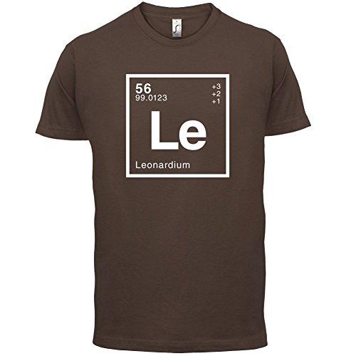 Leonard Periodensystem - Herren T-Shirt - 13 Farben Schokobraun