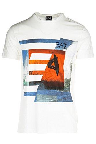 Emporio Armani EA7 t-shirt maglia maniche corte girocollo uomo bianco EU M (UK 38) 3YPTD0 PJ80Z 1100