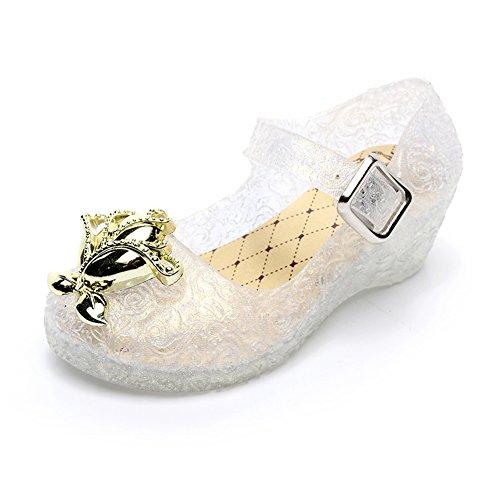 Amorar Cinderella Crystal Schuhe, Mädchen Gelee Prinzessin Wedges Tanzschuhe mit Glitter,EINWEG Verpackung