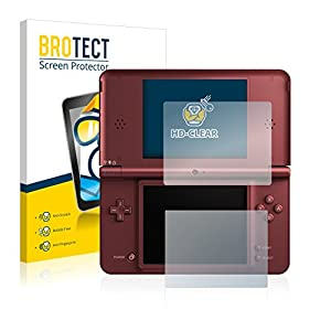 BROTECT Schutzfolie kompatibel mit Nintendo DSi XL [2er Pack] – kristall-klare Displayschutz-Folie, Anti-Fingerprint