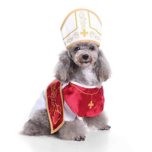 (YIZHEN lustiger Halloween pet Kleidung, süß streich Papst kostüme, Requisiten, kostüme, Halloween, Katze und Hund Rolle Spielen, Streicheln, Kleidung, Hund.)