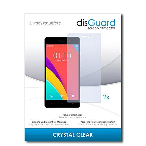 disGuard® Bildschirmschutzfolie [Crystal Clear] kompatibel mit Oppo R5s [2 Stück] Kristallklar, Transparent, Unsichtbar, Extrem Kratzfest, Anti-Fingerabdruck - Panzerglas Folie, Schutzfolie
