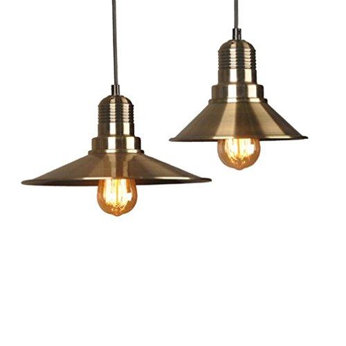 Deckenleuchte Kronleuchter Einweihungsparty Geschenk Kupfer Farbe Metall Industriellen Stil Lampenschirm Beleuchtung Dekor, Packung Mit 2 Stück