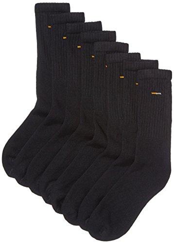 Camano Unisex 8er Pack Sportsocken mit verstärkten Zehen und Fersen Damen & Herren Strümpfe, Schwarz (Black 05), (Herstellergröße: 43/46)