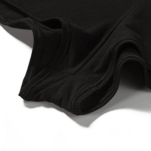 Lapasa Damen BH Baumwolle, Schick und Bequem in 13 Farben, Damen BH set, Damen BH ohne Bügel, L003 Schwarz