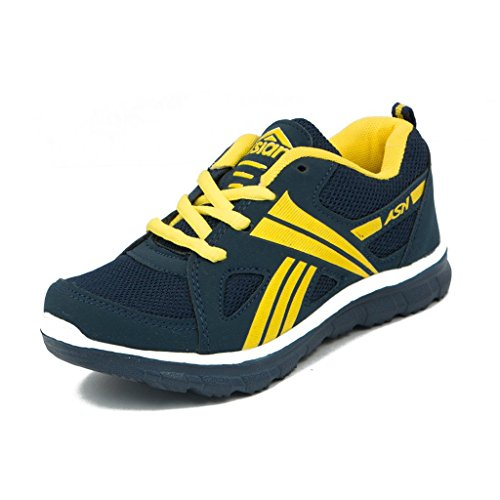 Asian-Shoes-Boys-Junior-Navy-Blue-Yellow-Shoes