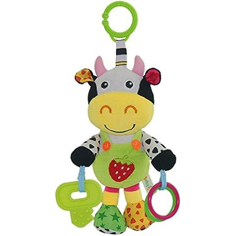 Happy cherry - Juguetes Musicales Colgantes para cochecitos cunas de Peluche Animal Infantil para Arrastrar con Sonidos Mordedor para Bebés recién nacidos Niños niñas -