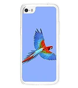 Fiobs Designer Back Case Cover for Apple iPhone 5C (Animal Bird Multi Color Parrot Mitthu Popat)