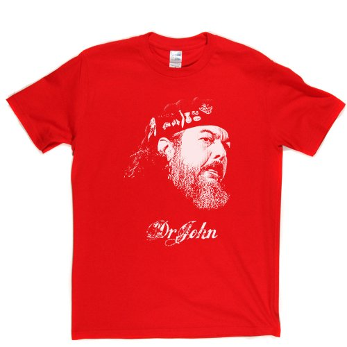 Dr John Blues Pop Jazz Zydeco Boogie woogie T-shirt Rot
