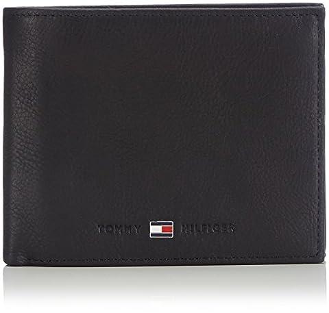 Tommy Hilfiger JOHNSON TRIFOLD AM0AM00665 Herren Geldbörsen 13x10x2 cm (B x H x T), Schwarz (BLACK