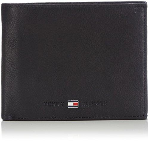 Tommy hilfiger johnson trifold porta carte di credito, 75 cm, nero