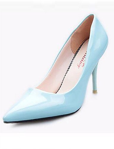 WSS 2016 Chaussures Femme-Soirée & Evénement-Noir / Bleu / Violet / Rouge / Blanc-Talon Aiguille-Talons-Talons-Similicuir red-us4-4.5 / eu34 / uk2-2.5 / cn33