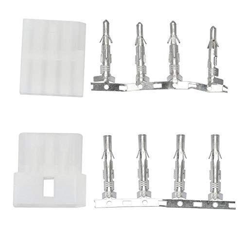 Bewinner 4-Pin Stecker und Buchse für ICOM AT-120, 5PCS 4-Pin Stecker und Buchse Kabelstecker Adapter für ICOM Antenna Tuner AT-120, Steckschlüsselsätze -