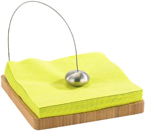 TokioKitchenWare Servietten-Halter: Designer-Serviettenhalter aus Bambus (Servietten-Halter, Bambus)
