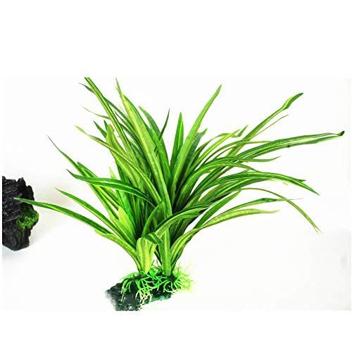 Accob Künstliche Pflanzen (30cm) Aquarienpflanzen Wasserpflanzen Ornamente Grüne Plastikpflanzen für Aquarien