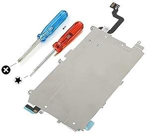 MMOBIEL LCD Metall Rückplatte mit Hitzeschild iPhone 6 inkl. Vorinstallierter Home Button Verbindung Flex Ersatzteil inkl 2 x Schraubenzieher und 6 x Schrauben für einfachere Installation