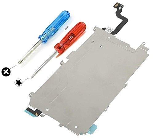 MMOBIEL LCD Placa trasera de protección térmica para iPhone 6 Incl. extensión pre-instalada de cable flexible para botón de inicio Incl. 6x tornillos y 2x destornilladores para fácil instalación