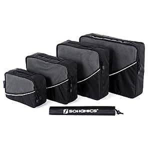 Songmics Kleidertaschen Packwürfel 4-teiliges Set schwarz GSN01H