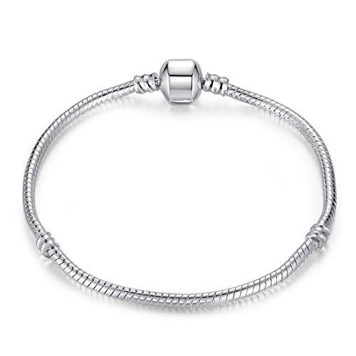 hänger Charm Armband Schlangenkette für Mädchen Frauen Geburtstag 18 20cm / 7,08 7,88 Zoll ()