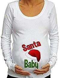 Yying Fashion Maternity Clothing Blusa de Manga Larga para Mujer Christmas Baby For Maternity Camiseta