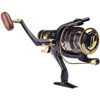 ryask (TM) UK cuscinetti a sfera Sinistra/Destra intercambiabile manico pieghevole pesca Spinning Reel SW505.2: 1